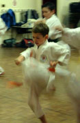 Junior front snap kick